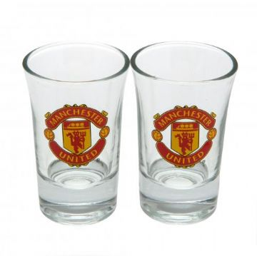 Manchester United 2 Pack Shot Glass Set